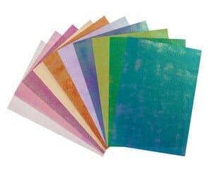 Iriserend karton (A5) 20 vel in 10 kleuren