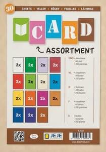 Gekleurd karton (A5) 15 kleuren, 30 vel