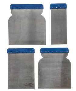 Metalen spatelset, 4 stuks