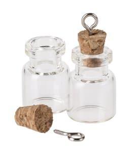 Pendentifs bouteilles en verre