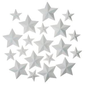 OPITEC Sparset: Styropor-Sterne 20-tlg. 2 Größen