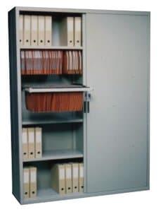 Schuifdeurkast 89x120x45cm 1 plank