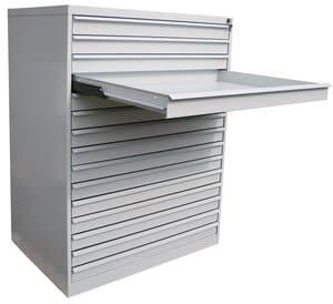 Stalen papierladekast A1, 15 laden