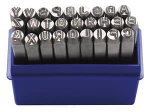 Slagstempels - Hoofdletters A-Z (4 mm) 27-delig