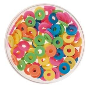 Mix perles disques Katsuki, 100 pièces néon