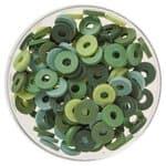 Katsuki Scheiben Mix (6 mm), 100 Stück Grüntöne