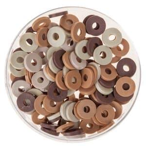 Perles disques Katsuki (6 mm), 100 pièces marron