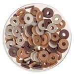 Mezcla de perlas Katsuki (6 mm) marrón, 100 ud.