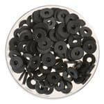Perles disques Katsuki (6 mm), 100 pièces noir