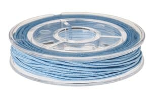 Elastiek, 5 m (1 mm) blauw