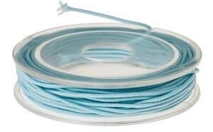 Goma para sombreros (5 m x 1 mm) azul hielo