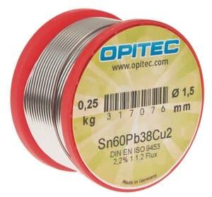 Elektronica soldeer 1,5mm Sn60Pb38Cu2, 250g spoel