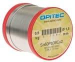 Elektronicasoldeer Sn60Pb38Cu2, 500 g spoel