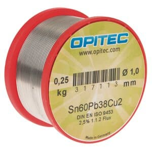 Fil à souder OPITEC -Pour électronique-, 250 g