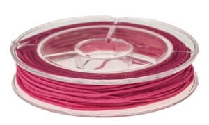 Goma para sombreros (5 m x 1 mm) rosa fucsia