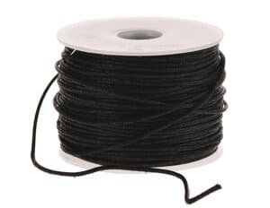 Imitations-Lederschnur, 25 m schwarz   (1 mm)