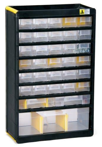 Meuble casier en plastique 33 tiroirs la pi ce opitec - Casier en plastique ...