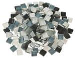 Mosaik Softglas, 200 g grau-mix (10 x 10 mm)