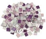 Mosaik Softglas, 200 g lila-mix (10 x 10 mm)