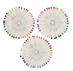 Spelden met glazen kop, kleurrijk, 120 stuks