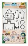 Gelenkfiguren aus Pappe, 5er-Set Abenteuerland