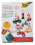 Knutselset mobiel van vilt - voertuigen