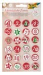 Adventskalender Buttons 1 - 24  (25 mm)
