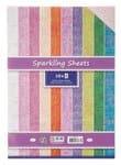 Irisierender Karton 10 Blatt in 10 Farben (DIN A4)