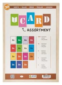 Gekleurd karton (A4) 15 kleuren, 30 vel