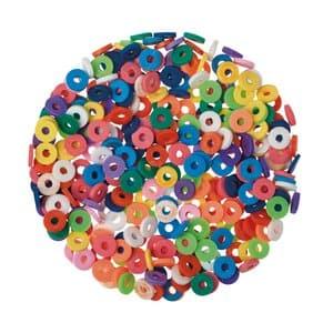 Perles disques Katsuki 6mm + cordon, multicolore