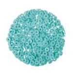 Perles disques Katsuki 6mm cordon 38cm, bleu clair