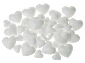 Voordeelset: tempex harten (2 groottes) 40-delig