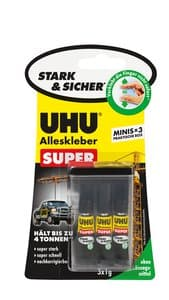 UHU Strong & Safe mini's, 3x 1 g tubes