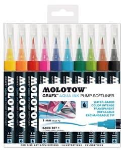 MOLOTOW[TM] GRAFX[TM] AQUA INK Pump Softliner