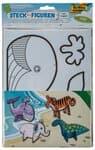 Figurines en carton à assembler, 4 pièces animaux