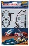Figurines en carton à assembler, 4 pièces véhicule