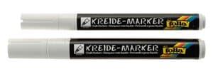 Marqueurs craie, 2 marqueurs blanc (1-2mm/2-5mm)