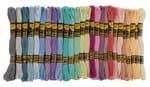 Stickgarn, 52 Strängchen à 8 m, 26 Farben pastell