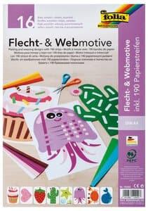 Flecht-/Webmotive und 190 Papierstreifen (DIN A4)