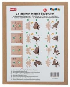 PlayMais Mosaic Kartonfiguren Insekten 24er-Set