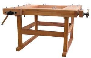 Beukenhouten werkbank model 400 132,5x132,5 cm