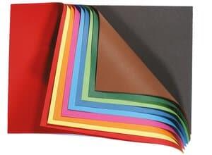 Gekleurd tekenpapier blok, 20 vel, DIN A4