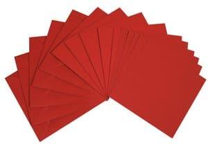 Dubbele kaarten - vierkant, 5 stuks, donkerrood