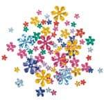 Schmucksteine, 200 Stück Blumen farbig sortiert