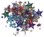 Schmucksteine, 350 Stück Sterne farbig sortiert