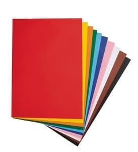 Papel de color, 10 colores (50 x 70 cm) 100 hojas