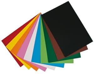 Fotokarton, 50 Bogen farbig sortiert (50x70cm)