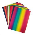 Regenbogen-Tonkarton, 10 Bogen (49 x 68 cm)