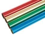 Alufolie, 4 Rollen farbig sortiert 30 x 50 cm
