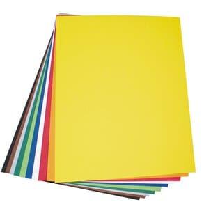 Gekleurd karton (50 x 70 cm) kleurrijk, 10 vel